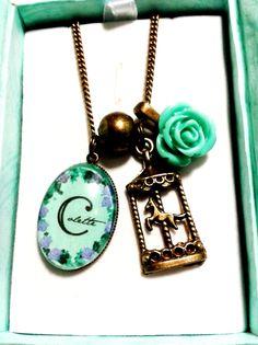 Pk Originals vintage style personalized pendants