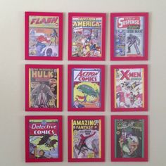 For the boys room classic first edition comic book covers. Frames $3.99@ikea and artwork found online.