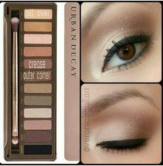 Natural look with Naked 2 - I would do it without the eyeliner that thick, but that's a personal choice naked2 palette tutorial, urban decay, naked 2 makeup look, naked makeup tutorial, naked 2 look, naked tutorial, naked2 makeup, naked palette tutorial, naked 2 tutorial