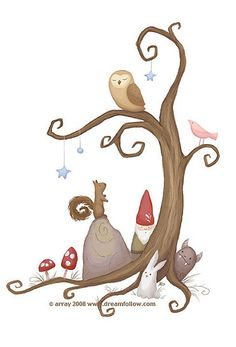 tree tattoo by merwing✿little dear, via Flickr. Love the stars- maybe some for the other kids?