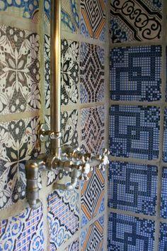 Gorgeous tiles & shower taps