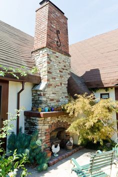 Love outdoor fireplaces house tours, idea, houses, dream hous, outdoor live, bricks, outdoor fireplaces, outdoor area, garden