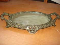 French Ormolu mirror display tray by michaelthompson1 on Etsy, $75.00