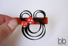 party favors, little girls, hair clips, diy tutorial, disney trips, minnie mouse, mous clippi, hair bows, minni mous