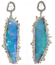 Amazing jewelry from the talented Kimberly McDonald. Opal shards are framed in fine diamonds.