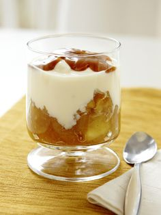 Homemade Yogurt with Apple Compote from #FNMag