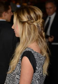 We are lovin' Ashley Tisdale's twisted hairstyle.