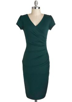 I Think I Can Dress in Teal, #ModCloth  oh to be skinny so I can wear this tight dress.
