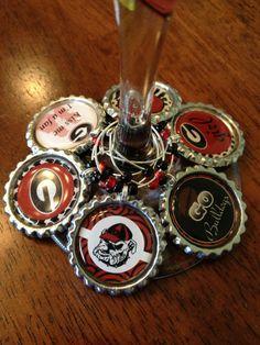 University of Georgia Bulldogs Inspired by BottleCapWineCharms, $10.00