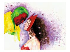 Vision and Scarlet Witch by David Mack