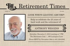 Ideas For Retirement Party Flyer: Retirement invite party for ...