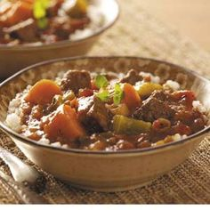 Jamaican-Style Beef Stew - This would go amazingly with Coconut Rice! :)