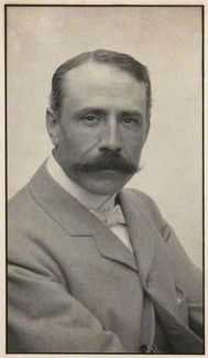 Sir Edward Elgar, Bt  by Edgar Thomas Holding  platinum print, circa 1905  7 5/8 in. x 4 1/4 in. (193 mm x 109 mm)  Given by Edgar Thomas Holding, 1934    © National Portrait Gallery, London
