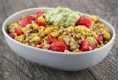 Summertime Sorghum Salad with Avocado Yogurt Dressing @Bob's Red Mill @Stonyfield Organic