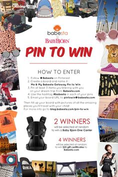 babesta | For Cool Urban Kids Pin to Win Baby Bjorn One giveaway! www.babesta.com