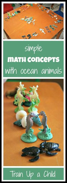 Skip counting by twos, matching, comparing same, similar and different with ocean animals for hands on learning.