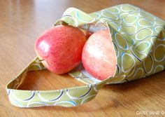 how to | fabric produce bag (free pdf pattern)