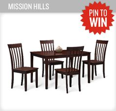 What would you love to eat on the Mission HIlls dinette? #PerfectTablegate