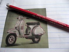 How to use an iron on transfer pencil.