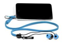 Zipbuds are headphones encased in a zipper that's stiff enough to keep the cord from getting tangled up when it's in your pocket. They come with different-size earbuds to fit most ears. Cost, $39.99. (888) 345-4834; zipbuds.com