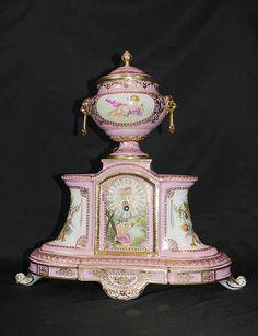 Sevres Porcelain Mantle Clock www.canonburyantiques.com