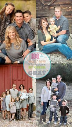Inspiration for your upcoming family photo session - here are outfit choices for a gray / grey picture color scheme | KristenDuke.com