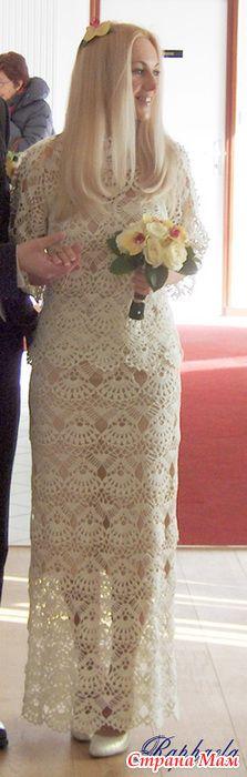 Vestido de novia - todo en calado ... (crochet) - País mamá