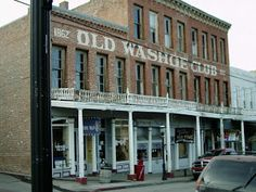 """The Washoe Club, Virginia City, Nevada: The 3 main ghosts sighted are a beautiful blond woman, in a blue dress nicknamed """"Lena"""", who was murdered on the third floor, while working as a paid lover. A timid, little girl's ghost supposedly that of a child who was heinously executed in the basement of the building is also seen. An old gruff prospector has shown himself many times and is said to filch drinks from customers and is the one folks blame for the tricks that are played out in the club."""