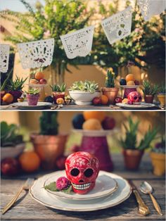 Mexican table decor ideas. Love the colors and tone.
