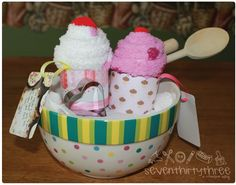 Sock cupcakes—simple gift for teacher, etc.
