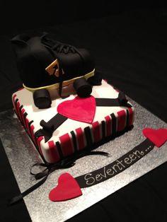 Roller skate cake! 17th birthday cake.