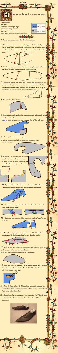 14th centuryPoulaines tutorial by *Idzit on deviantART