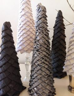 layer ribbon/fabric trees