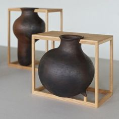 These clay vessels created by Mexican designer Liliana Ovalle are on the geological phenomenon of sinkholes.