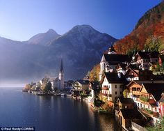 The beautiful Austrian village of Christuskirche