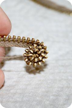 Zipper Rosette Tutorial from Sew Craft Create | U Create
