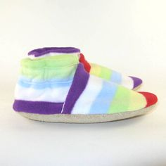 Soft Sole Children's Fleece Slippers Shoes Eco by KaBoogie on Etsy, $22.00