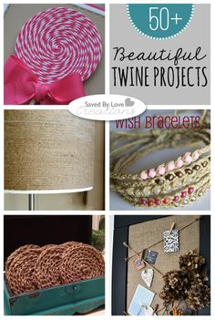 Over 50 Things to make with Twine #bakerstwine #twinecrafts @savedbyloves savedbylov