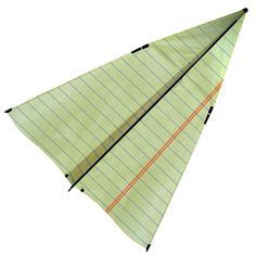 Oh, go fly a kite. No really, it's a nice day out! And I can guarantee that you'll be the only one out there with this paper airplane kite that takes you back to your childhood. Except this paper airplane might actually fly.