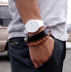 White watch.