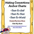 A Free Set Of Making Connections Anchor Charts:  ~Text-To-Self  ~Text-To-Text  ~Text-To-World ...