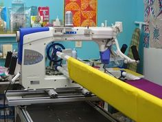 machinequilter JUKI QVP 2200 NEW long arm will be at the Festival of Quilts at the NEC in Birmingham 7-10 August 2014 Franklins Stand A46