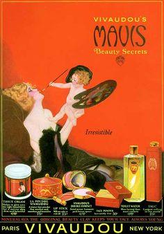 Vivadou's Mavis Beauty Secrets ad, 1923. Illustrated by Henry Clive.