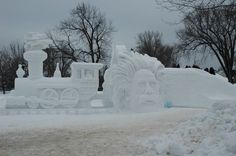 Ely, MN ice sculpture