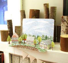 Letterpress Paper House Kit from 1Canoe2 Letterpress