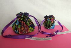 """#Jewelry Bags.  $14.25 via www.IslandJewelryBags.etsy.com.  """"Kaleidoscope"""" Jewelry Bag Set.  Over 200 other colors also available."""