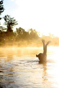 { morning swim }