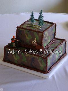 camo grooms cake idea