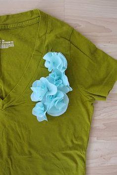 diy fabric flower #diy #fabric #flower