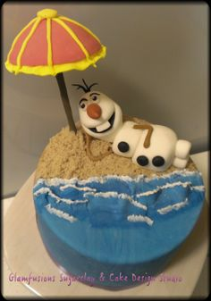 Frozen's Olaf on the Beach Cupcake